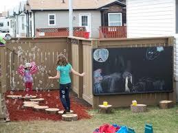 Diy Backyard Playground Ideas Backyard Playgrounds With Diy Style And Black Chalkboard Also
