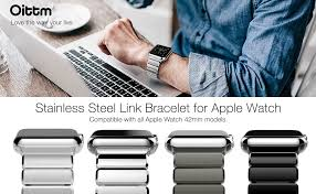 amazon apple watch black friday deals amazon com apple watch series 3 band oittm 42mm stainless steel
