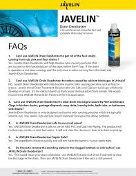 Bathtub Drain Odor Javelin Drain Products
