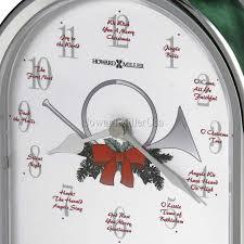howardmiller musical clock silver sound of the season 645687