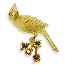 birds 18k gold bird pins u0026 brooches at scully u0026 scully