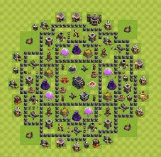 layout vila nivel 9 clash of clans clash of clans best plans layouts plan town hall level 9 th 9