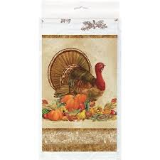 thanksgiving plastic table covers plastic rustic turkey thanksgiving table cover walmart com