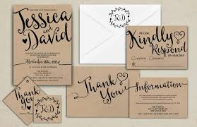 wedding invitations rsvp wedding invitation printable kraft wedding invitation suite rsvp