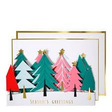 meri meri concertina trees christmas card designers guild