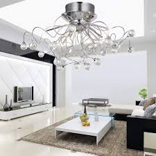 Ceiling Lighting Living Room by Loco Modern Crystal Chandelier With 11 Lights Chrom Flush Mount