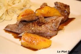 cuisiner aiguillette de canard aiguillettes de canard aux pêches sauce miel et vinaigre balsamique