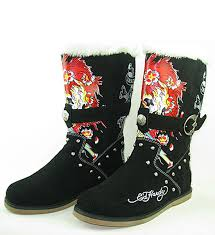 womens boots burning ed hardy brand shirts cheap womens boots burning skeleton with