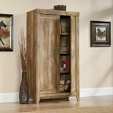 sauder adept craftsman oak storage cabinet 418141 the home depot