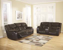 Two Tone Reclining Sofa Tafton Java Two Tone Texture Reclining Sofa And Loveseat Set
