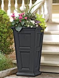 decor tall planters tall patio planters tall plastic planters