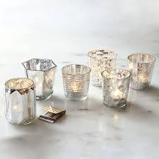 mercury tea light holders mercury tealights set of 6 west elm