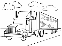 18 wheeler coloring pages coloring home