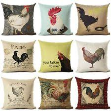 Rooster Home Decor Rooster Pillow Ebay