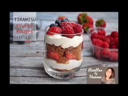 cuisine hanane tiramisu aux fruits rouges spéculoos recettes by hanane creme