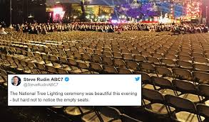 national tree lighting ceremony reporter shares photo of sad attendance at trump s national