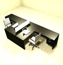 T Shaped Desk Two Person Corner Desk Glassnyc Co