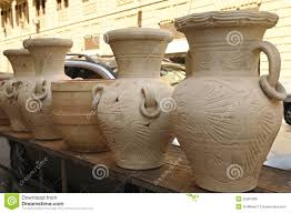 Pots For Sale Hand Made Clay Pots For Sale Stock Photo Image 55267086