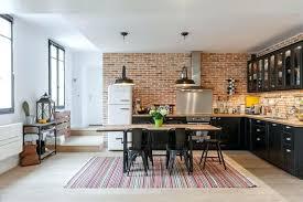 cuisine style marocain deco cuisine moderne cuisine style industriel grace au mur en