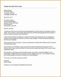 trend sample cover letter for health care aide 45 in examples of