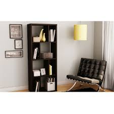 narrow bookcases modern narrow bookcase with 4 shelves in chocolate finish
