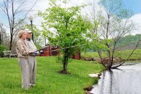 woodlands retirement community senior living huntington wv woodlands ccrc senior couple fishing