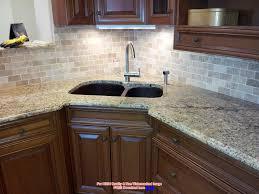 Granite With Backsplash Mac S Solarius Granite Countertop With - Granite tile backsplash ideas