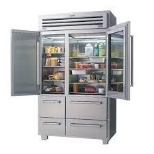 glass door chest freezer residential refrigerator freezer american stainless steel