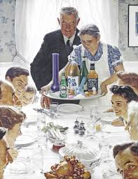this is a real thanksgiving dinner family god