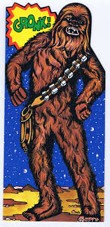 wars congratulations card wars chewbacca 1977 vintage birthday card from drawing board