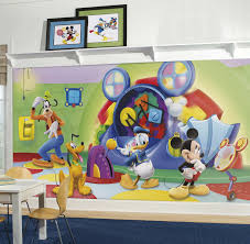 painting a wall mural home design mickey mouse clubhouse wall stickers