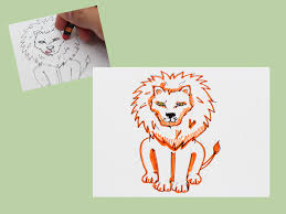 how to draw a sitting lion 9 steps with pictures wikihow