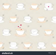 Cute Cup Designs Sweet Cute Pastel Coffee Cup Heart Stock Vector 427520872