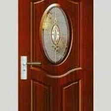 Cermin Brown pintu solid cermin kaca glass wooden door home furniture