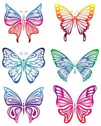 butterfly vector ribbon cutting free vectors graphic
