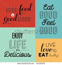 set vintage food quotes colorful designs stock photo photo vector