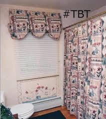 shower curtain with valance tie back 1990 guest bath design tbt throwback thursday holden massachusetts bathroom