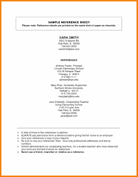 References On A Resume Template Sle References Page For Resume 28 Images College Student