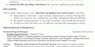 Property Manager Duties For Resume Assistant Property Manager Resume Resume Templates Property Resume