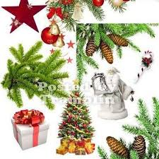 Free Christmas Decorations Christmas Decorations Png Snow Bear Pine Cones And Branches Tree