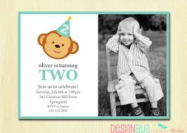 First Birthday Invitation Cards For Boys Boy U0027s Birthday Monkey Invitation Baby Boy First