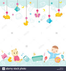 baby icons and objects background accessories frame hanging