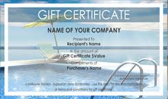 travel gift certificates travel gift certificate templates easy to use gift certificates