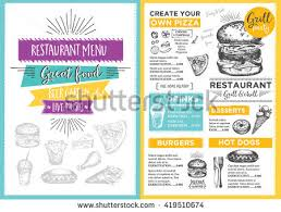 fast food menu design fast food stock vector 455452924 shutterstock