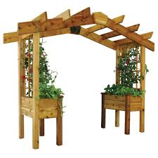 gronomics 3 ft x 10 ft x 8 ft pergola planter safe finish pp2