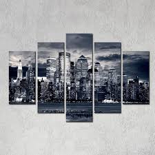 2017 modern home decor new york city painting black white digital