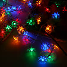 led garland christmas lights fairy lights 5m lotus led garland christmas lights string light new