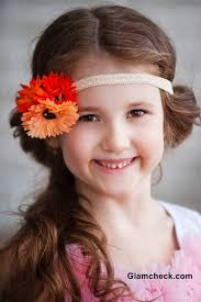 flower bands floral hair accessory for flower hair elastic bands