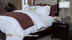 how to layer a bed how to get the hotel bed look at home downlite youtube