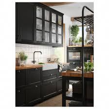 ikea black kitchen cupboards skogså countertop oak veneer 74x1 1 2 ikea kitchen